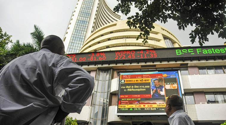 Sensex, Nifty start on a cautious note; Rupee slips 9 paise to 68.80 vs USD