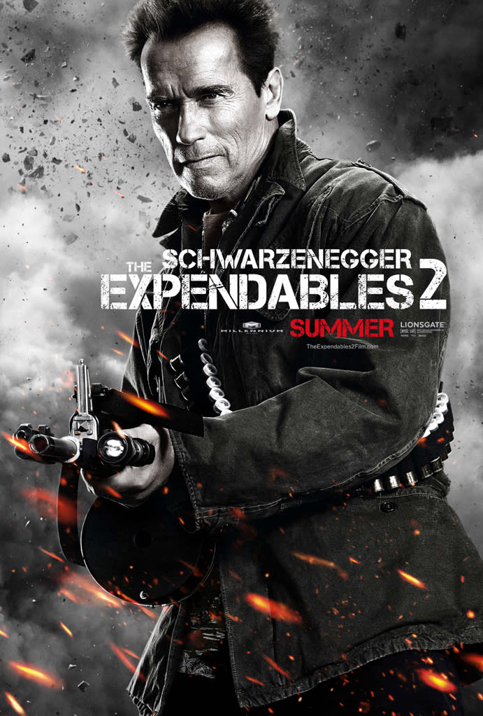 """Arnold Schwarzenegger in Lionsgate's """"The Expendables 2"""" - 2012"""