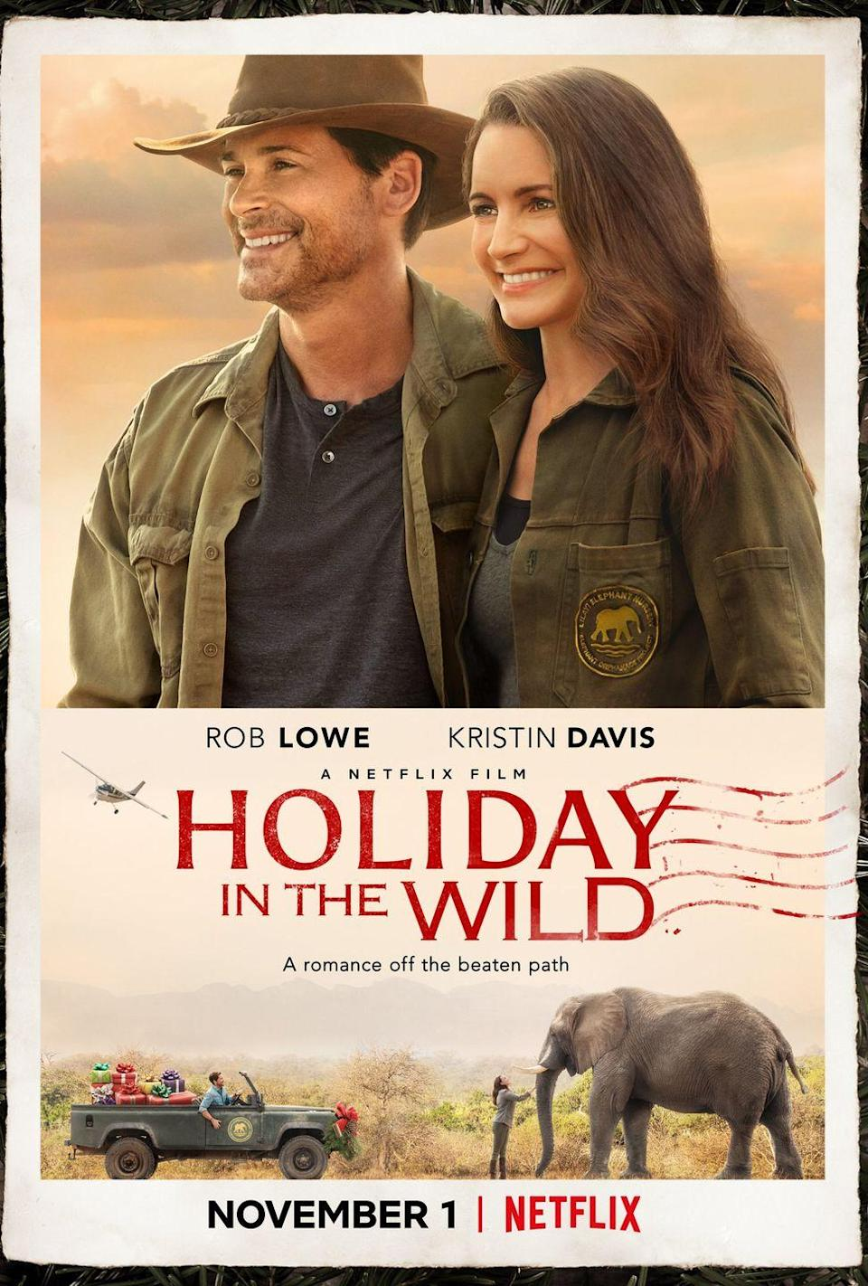 """<p>Starring Rob Lowe and Kristin Davis, this holiday rom-com tells the story of a woman who, abandoned by her husband the night before they're set to leave on an African safari, decides to travel to Cape Town alone, where she meets a cute elephant conservationist. </p><p><a class=""""link rapid-noclick-resp"""" href=""""https://www.netflix.com/title/80231468"""" rel=""""nofollow noopener"""" target=""""_blank"""" data-ylk=""""slk:STREAM NOW"""">STREAM NOW</a></p>"""