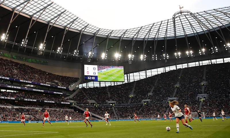 A new WSL attendance record of 38,262 was set when Tottenham hosted Arsenal in November // Action Images via Reuters/Matthew Childs