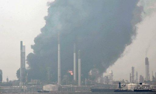Shell said the fire broke out Wednesday at its refinery in Pulau Bukom, an islet 5 km off Singapore