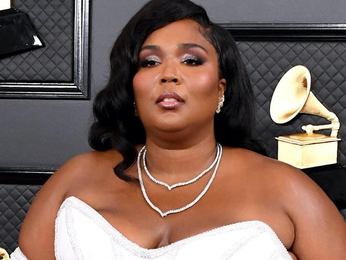Lizzo attends the 2020 Grammys.