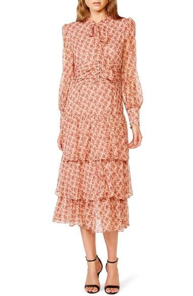 <p>For a look that screams hostess with the mostest, go for the <span>Bardot Lainey Floral Long Sleeve Tiered Chiffon Maxi Dress</span> ($189).</p>