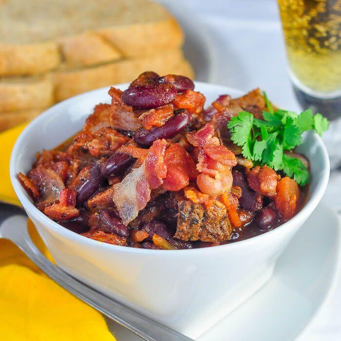 """<p>There are leftovers, and then there are luxury leftovers—this recipe falls under the latter.</p><p>Get the recipe from <a href=""""https://www.rockrecipes.com/prime-rib-beer-bacon-chili-a-luxury-leftover-meal/"""" rel=""""nofollow noopener"""" target=""""_blank"""" data-ylk=""""slk:Rock Recipes"""" class=""""link rapid-noclick-resp"""">Rock Recipes</a>.</p>"""