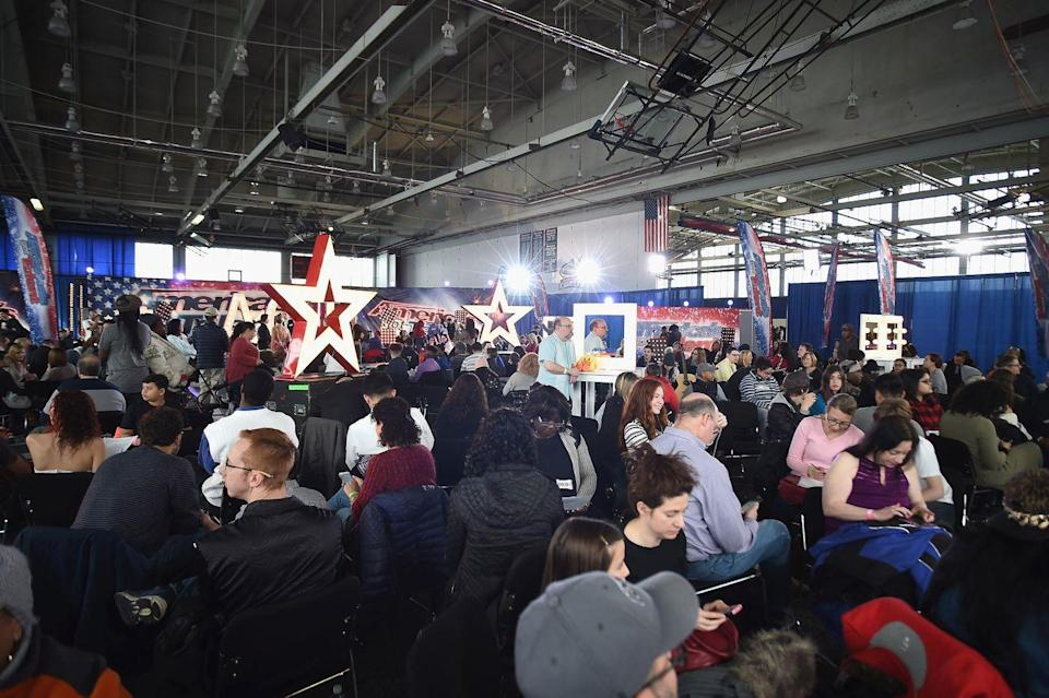 """<p>After checking in, contestants are placed in a holding room, sometimes for hours (so bring snacks!). The show has no problem with friends or family joining you on your journey — as long as they sign a <a href=""""https://www.americasgottalentauditions.com/faq/open-call/"""" rel=""""nofollow noopener"""" target=""""_blank"""" data-ylk=""""slk:special release form"""" class=""""link rapid-noclick-resp"""">special release form</a> — but they aren't allowed in the waiting room with you before your audition. </p>"""