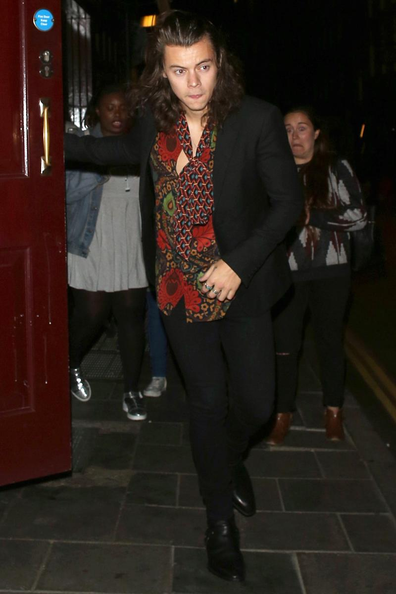 Leaving Loulou's club in London.