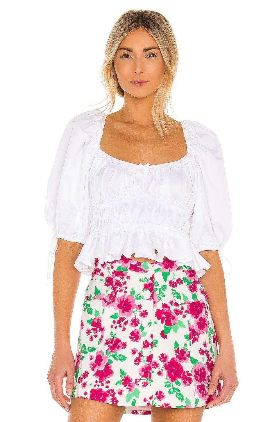 <p>This <span>For Love &amp; Lemons Jackson Crop Top</span> ($143) looks great with shorts or jeans.</p>