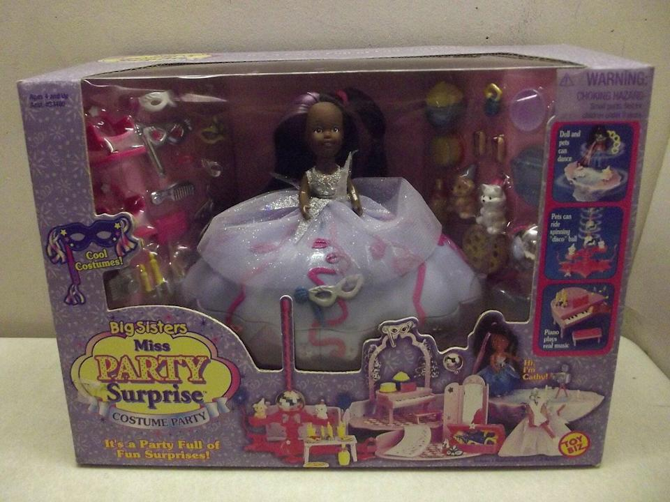 <p><span>Big Sisters Miss Party Surprise Costume Party Doll Cathy 1999</span> ($85)</p>