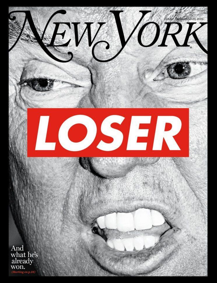 The cover of New York magazine's election issue. (New York)