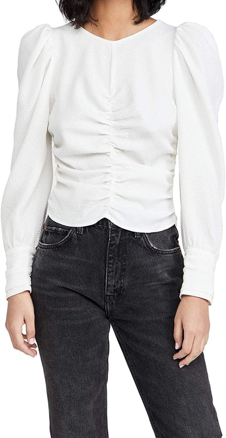 <p>Throw on this <span>ASTR the label Magdalene Top</span> ($40), and you have an instantly dressy look.</p>