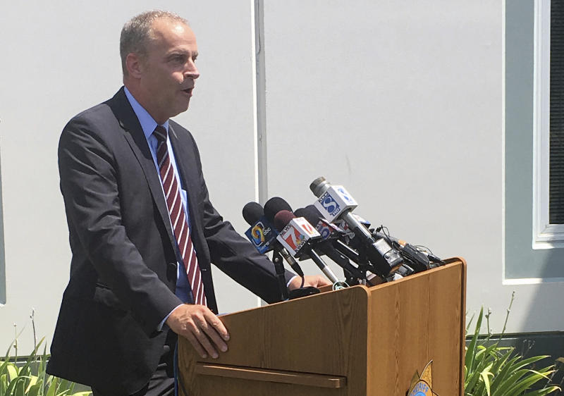 Kevin Winker of the Iowa Division of Criminal Investigation speaks about the disappearance of 20-year-old Iowa college student Mollie Tibbetts during a news conference Tuesday, July 31, 2018, in Montezuma, Iowa. Winker says investigators are pursuing every possible lead but haven't determined why Tibbetts went missing on July 18. (AP Photo/Ryan J. Foley)