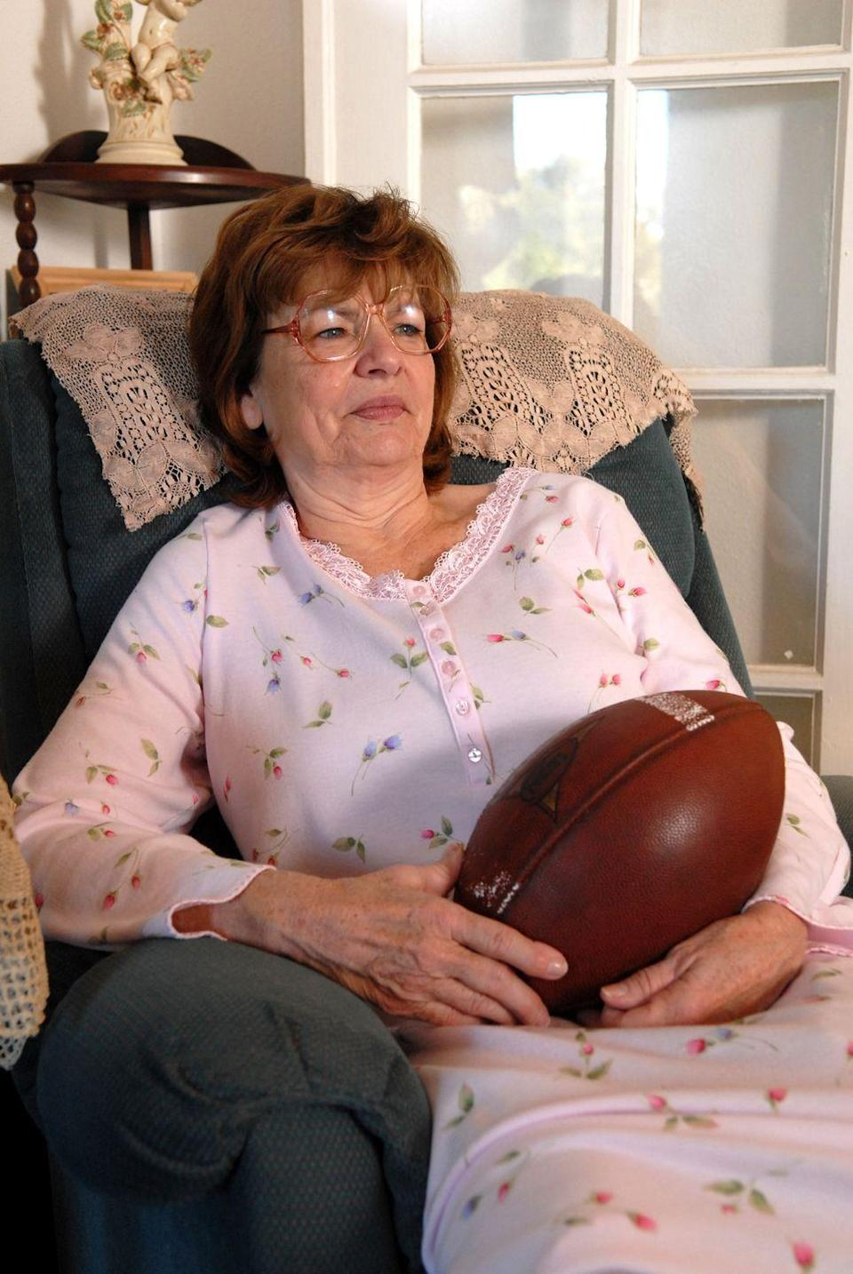 """<p>It was hard not to have a soft spot for Lorraine """"Grandma"""" Saracen. Suffering from dementia throughout the series, she was dedicated whole-heartedly to Dillon football and supporting her grandson through whatever issues he went through—especially if there was a Snackwell involved.</p><p>Before Louanne Stephens joined the series, she had a number of credits to her name as a professional actress since 1986.</p>"""