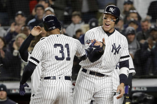 The Yankees defeated the Astros 4-1 in Game 5 of the ALCS. The Astros still lead the series 3-2. (AP Photo/Frank Franklin II)