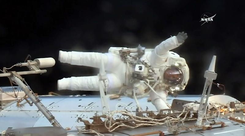 US Astronauts Conduct Unplanned, Rapidly Executed Contingency Space Walk on Space Station