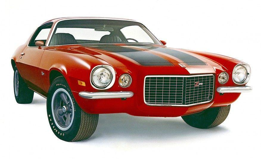 """<p>The Z/28 carried over to the second-generation Camaro, but it was now powered by a 350-cubic-inch (5.7-liter) small-block LT-1 V-8 rated at 360 horsepower. The LT-1 may have sacrificed some of the DZ302's high-revving charisma, but it was a much friendlier everyday driving companion. The Z/28 in this photo features the new RS front end with its split bumpers and driving lights alongside the grille. The high-back seats indicate that the pictured car is a 1971 model—when a switch to SAE """"net"""" power-rating standards dropped the nominal output of the LT-1 to 330 horsepower.</p>"""