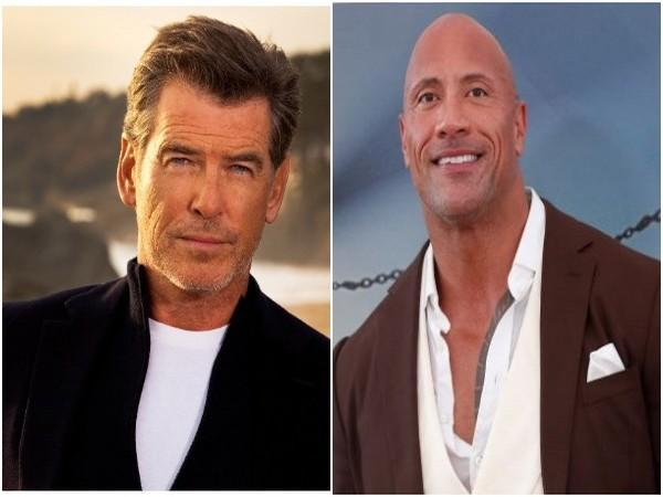 Pierce Brosnan and Dwanye Johnson