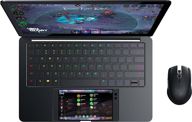 Razer says the Razer Phone's touchscreen can act as a secondary display for Project Linda.