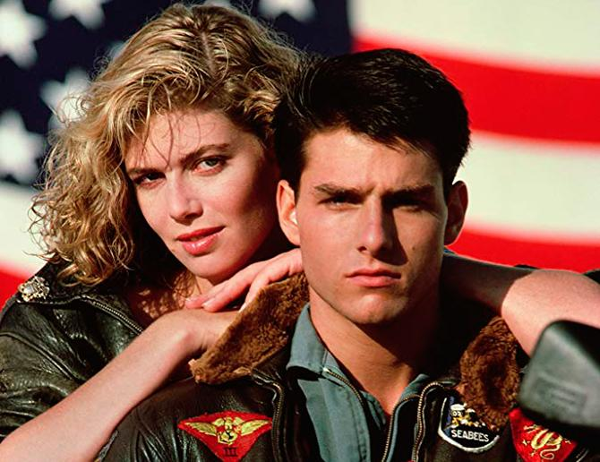 Kelly McGillis y Tom Cruise en Top Gun (© 1986 Paramount Pictures. All rights reserved.)