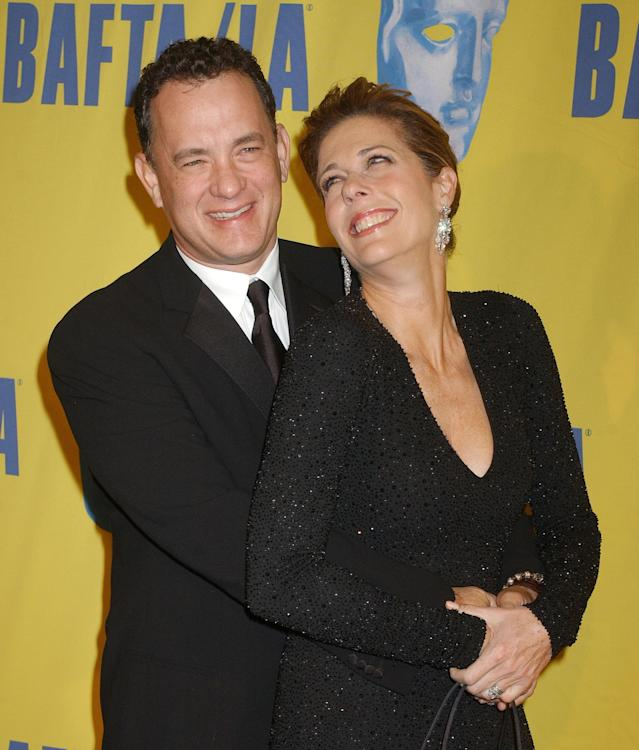 Hanks and Wilson at the 2004 Britannia Awards. (Photo: Gregg DeGuire/WireImage)