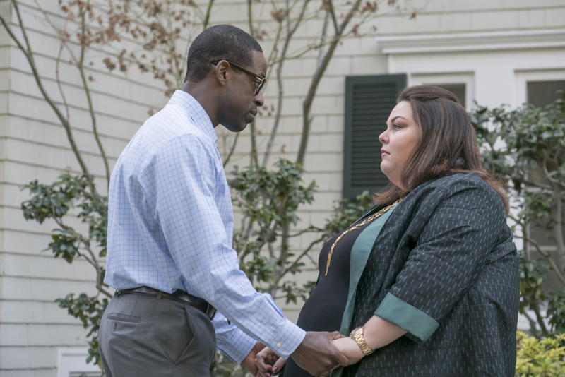 Sterling K. Brown as Randall and Chrissy Metz as Kate. (Photo: Ron Batzdorff/NBC)