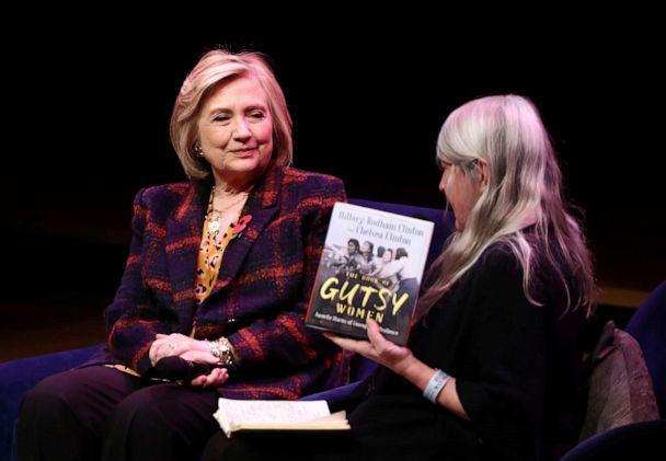 PHOTO: Former U.S. Secretary of State Hillary Clinton attends an event promoting 'The Book of Gutsy Women' at the Southbank Centre in London, Nov. 10, 2019. (Simon Dawson/Reuters)