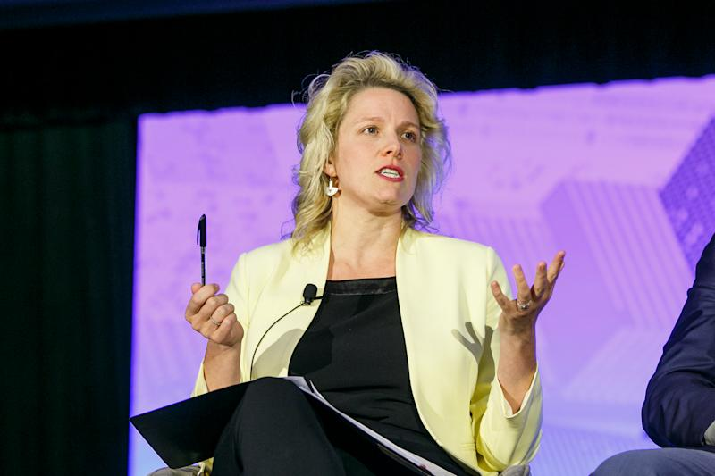 Clare O'Neil discusses the future of work at Yahoo Finance's All Markets Summit event on Thursday 26th September. Source: Yahoo Finance
