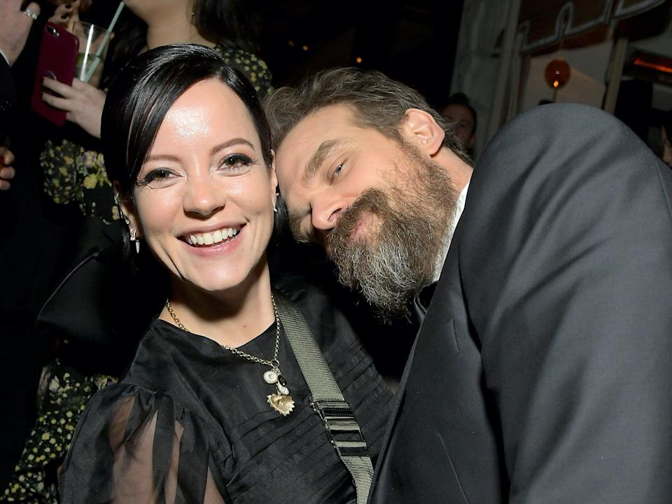 David Harbour and Lily Allen at the 2020 Netflix SAG after party (Getty Images for Netflix)
