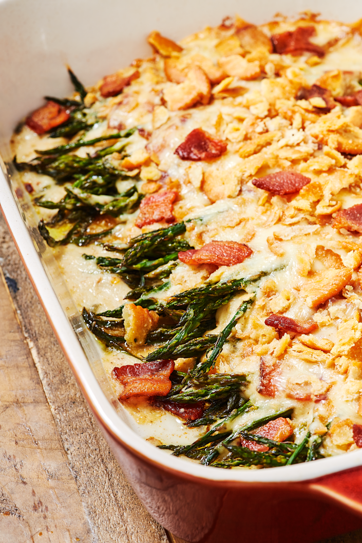 """<p>There's just no going back once you've tried this asparagus. </p><p>Get the recipe from <a href=""""https://www.delish.com/cooking/recipe-ideas/a26990024/asparagus-casserole-recipe/"""" rel=""""nofollow noopener"""" target=""""_blank"""" data-ylk=""""slk:Delish"""" class=""""link rapid-noclick-resp"""">Delish</a>. </p>"""