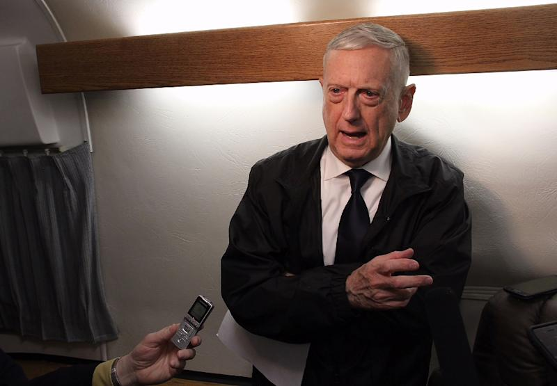 US Defense Secretary Jim Mattis, speaking to reporters aboard a military jet earlier this year, says Syrian President Bashar al-Assad has been warned against using chemical weapons