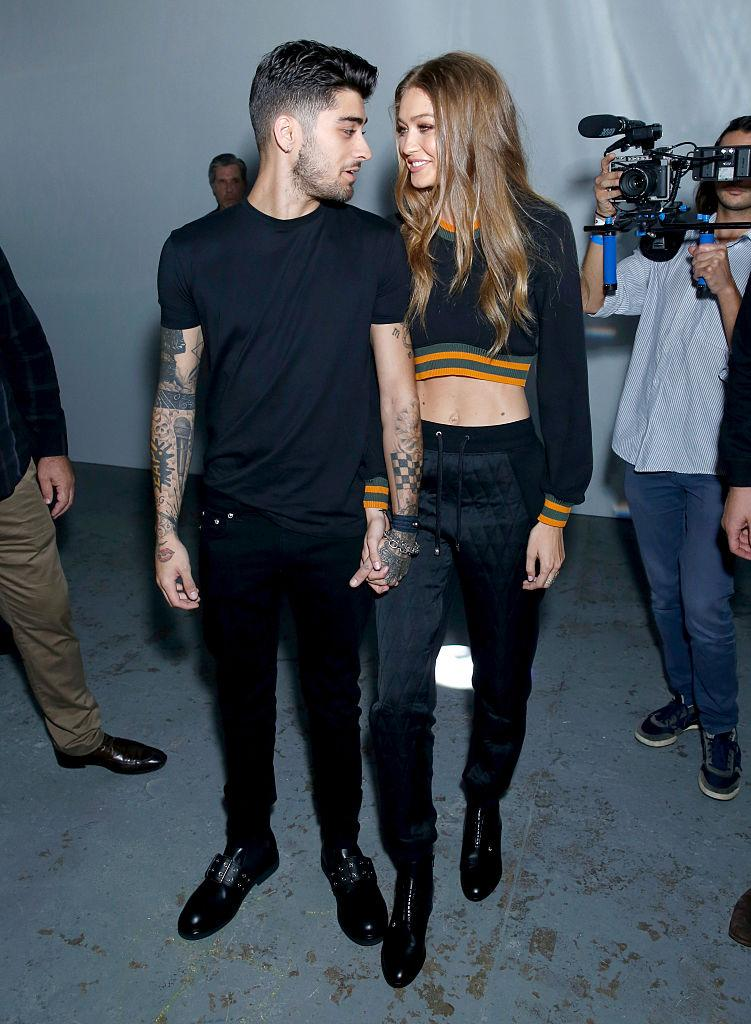 Zayn Malik and Gigi Hadid started dating at the end of 2015, pictured here at London Fashion Week September 2016. (Getty Images)