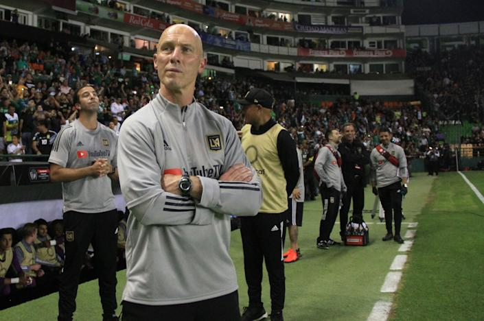 Coach Bob Bradley and LAFC said a lot with their victory over León in the CONCACAF Champions League. (Photo by VICTOR CRUZ/AFP via Getty Images)