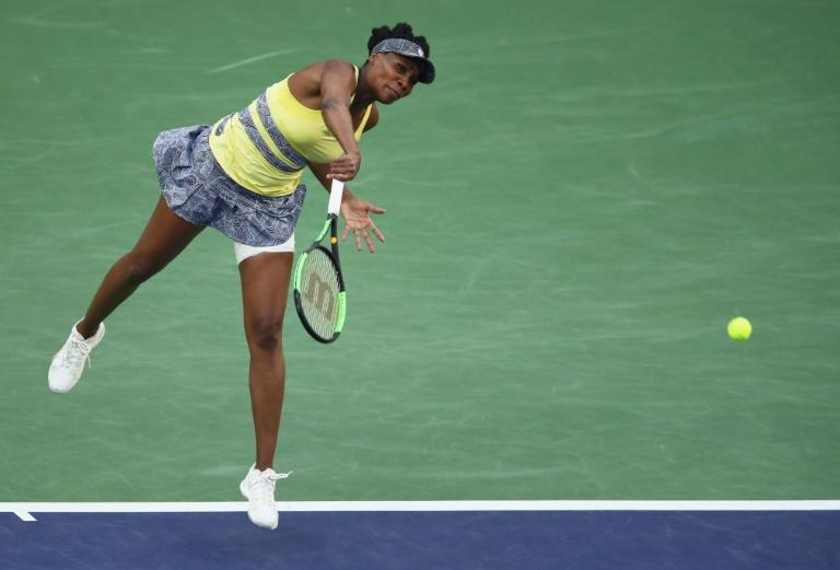 Venus Williams saved three match points against her own serve in the eighth game of the third set against Elena Vesnina but ultimately lost 6-2, 4-6, 6-3 at Indian Wells
