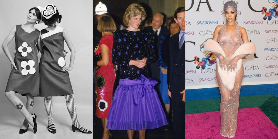 <p>Whether you love it or hate it, there's something undeniably fascinating about unconventional and outrageous style. Here, we're looking back at the most daring, polarizing fashion through the years, from Katharine Hepburn's menswear in the 1940s to the punk rock movement of the late 1970s through to the naked dress trend that's been taking over red carpets in recent years. </p>