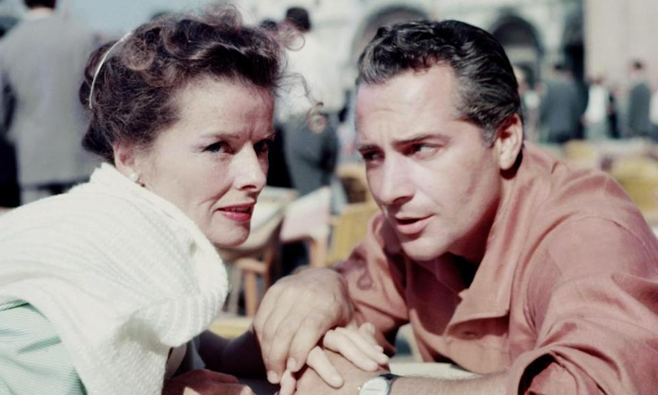 Getting in trouble: Katharine Hepburn with Rossano Brazzi in Summertime.