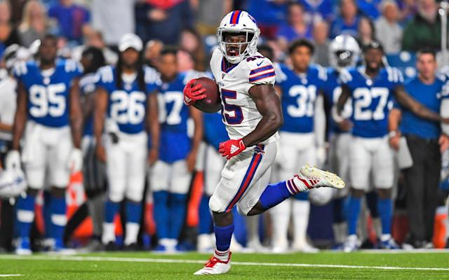 Christian Wade played his first ever American Football match in the NFL pre-season in August - AP