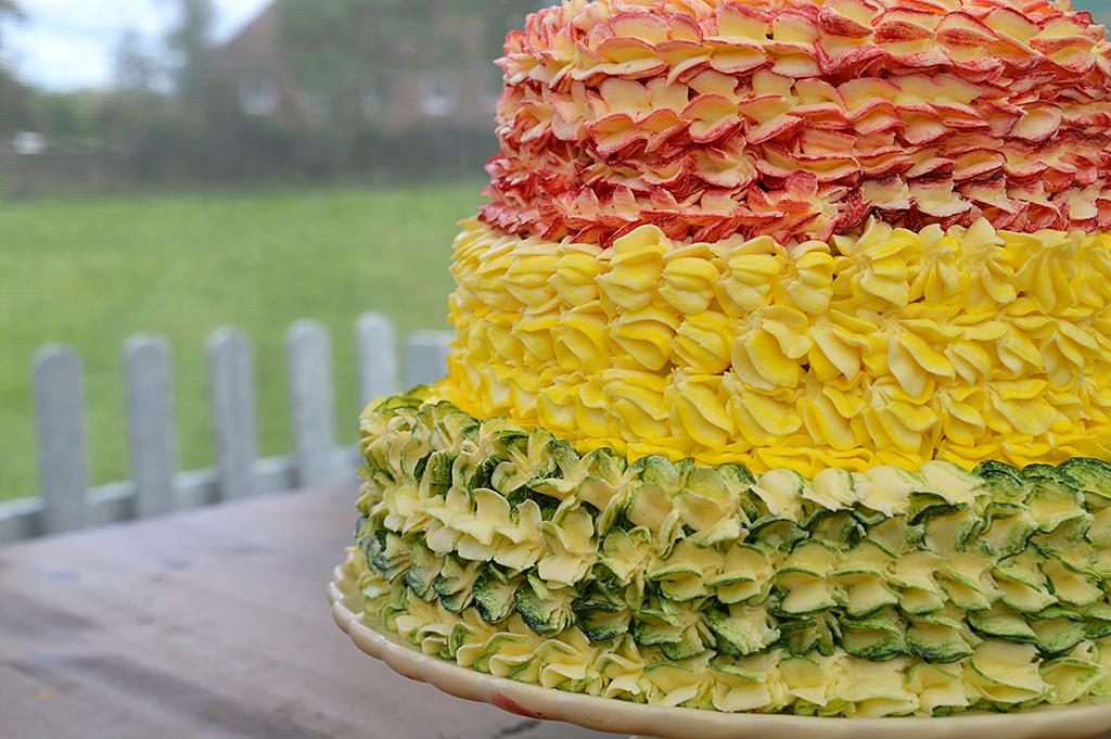 <p>Tom's Showstopper: Floral cake on PBS's <i>The Great British Baking Show</i>.<br /><br />(Photo Credit: PBS) </p>