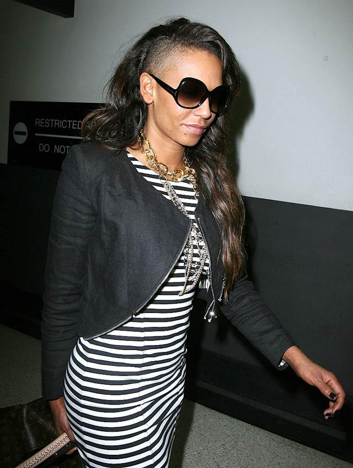 "Spice Girl Melanie Brown also recently opted to alter her look by chopping off a layer of her locks. Partially shaved heads ... hot or not? <a href=""http://www.infdaily.com"" target=""new"">INFDaily.com</a> - February 17, 2010"