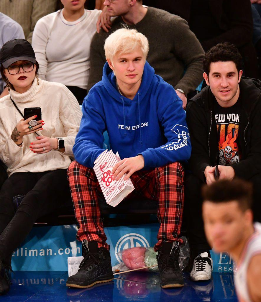 <p><strong>Blonde</strong></p><p>Until this photo of Elgort sitting courtside of a New York Knicks game with a confused expression on his face. It might've been the questionable hair color (and haircut!) that contributed to the confusion.</p>