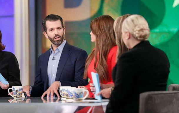 PHOTO: Donald Trump Jr. and Kimberly Guilfoyle appear on ABC's, 'The View,' Nov. 7, 2019. (Lou Rocco/Walt Disney Television)