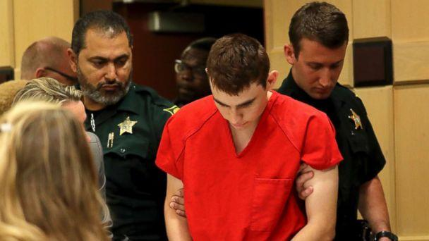 PHOTO: Nikolas Cruz appears in court for a status hearing before Broward Circuit Judge Elizabeth Scherer in Fort Lauderdale, Fla., Monday, Feb. 19, 2018. (Mike Stocker/South Florida Sun-Sentinel via AP)