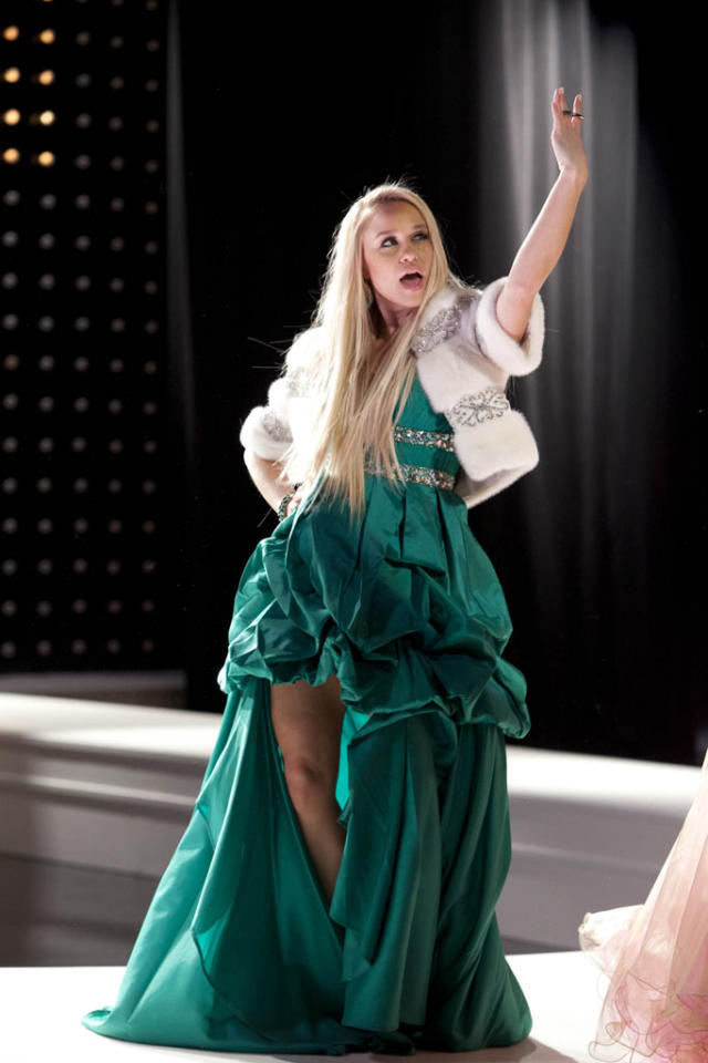 "Kitty (Becca Tobin) dresses up for ""Diva Week"" in the ""Diva"" episode of ""Glee."""