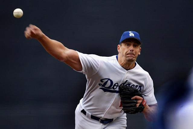 "Dodgers pitcher Kevin Brown didn't want to fly coach from Georgia to Los Angeles. <span class=""copyright"">(Gina Ferazzi / Los Angeles Times)</span>"