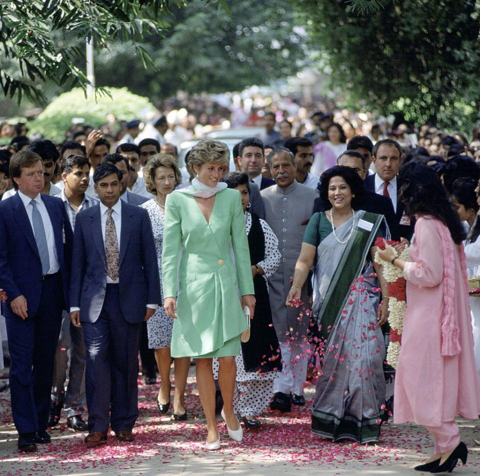 Princess Diana during a trip to Lahore, Pakistan in 1991 [Photo: Getty]