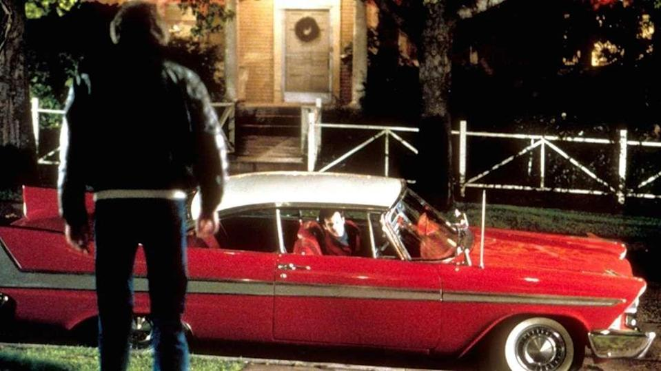 "<p>Directed by John Carpenter, how could we leave a horror movie centered around a 1958 Plymouth Fury off the list? Stephen King was so popular at the time and had enough clout that the film went into production before the book was even published. Anywhere between 23 and 28 cars were used in the film (sources vary), and not all of them were Furys. Columbia Pictures placed ads across the country looking to buy Belvederes and Savoys, too. The majority of the cars were used on screen and the rest were used for spare parts. </p><p>The illusion of Christine's ability to regenerate herself was created using hydraulic pumps located inside the car that were attached to the sides of a plastic-paneled body double. The pumps then sucked in the sides to create a damaged version of the car, and then the film was reversed. Some tricky special effects for 1983. </p><p>Another deceiving trick? The sound we hear from Christine's engine isn't actually a Plymouth Fury. Filmmakers used a recording of a 1970 Mustang 428 Super Cobra Jet engine. </p><p><a class=""link rapid-noclick-resp"" href=""https://www.amazon.com/gp/video/detail/0FWLLKS617Q2D00JO599NG9NLR/?tag=syn-yahoo-20&ascsubtag=%5Bartid%7C10054.g.27421711%5Bsrc%7Cyahoo-us"" rel=""nofollow noopener"" target=""_blank"" data-ylk=""slk:AMAZON"">AMAZON</a></p>"