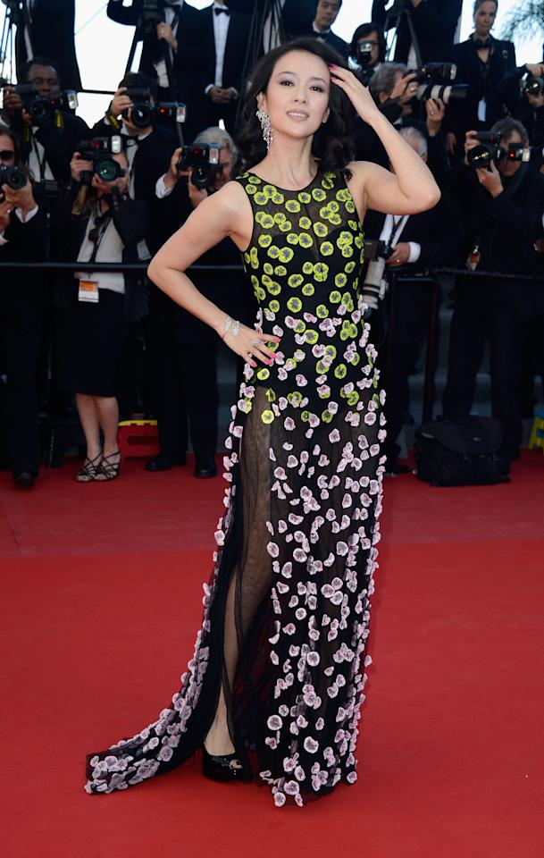 CANNES, FRANCE - MAY 26:  'Un Certain Regard' jury member Zhang Ziyi attends the 'Zulu' Premiere and Closing Ceremony during the 66th Annual Cannes Film Festival at the Palais des Festivals on May 26, 2013 in Cannes, France.  (Photo by Pascal Le Segretain/Getty Images)