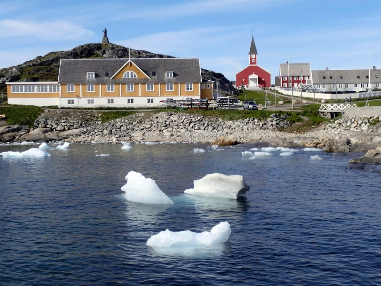 Nuuk, Greenland's capital, is a small city on the southwest coast. The city's fjord system is known for its icebergs, humpback whale watching and waterfalls. Nuuk has a population of over 17,000 people.