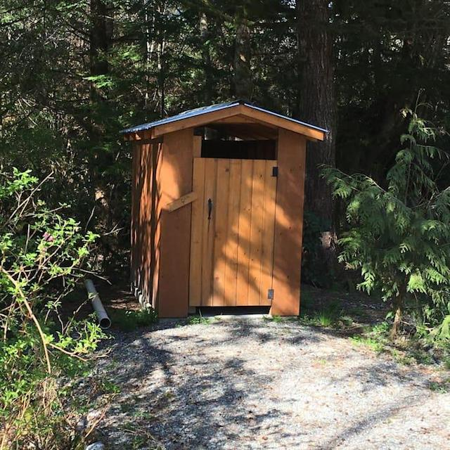 <p>Of course, you're still camping, so you will be lacking some creature comforts. But this outhouse is nicer than most. (Airbnb) </p>