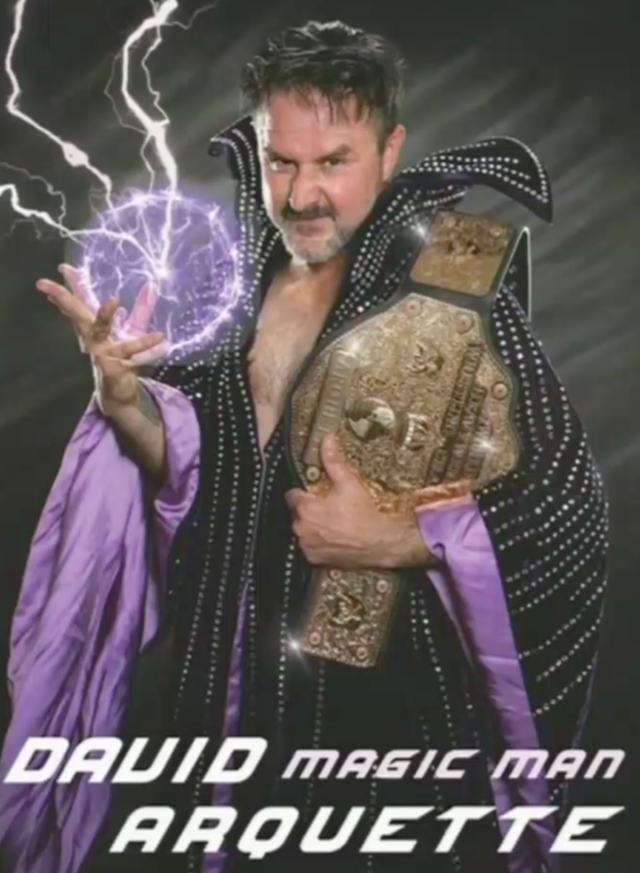 "David Arquette says his pro wrestling stage name will be ""Magic Man."" (Photo: Courtesy of David Arquette)"