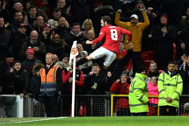 Alive and kicking: Juan Mata scored the only goal as Manchester United beat Wolves 1-0 (AFP Photo/Paul ELLIS)