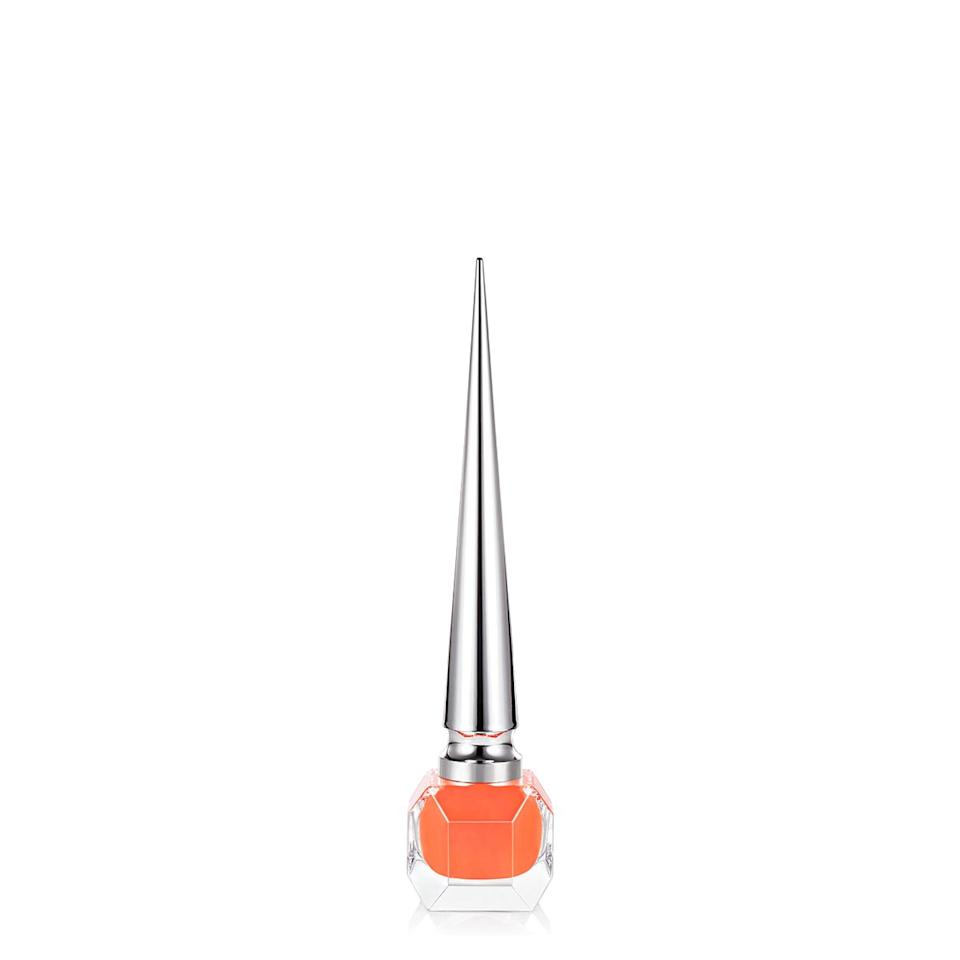 """<h3>Christian Louboutin Beauty Crosta Meteor</h3><br>When we ask nail pros to name their favorite <a href=""""https://www.refinery29.com/en-us/neon-nail-polish"""" rel=""""nofollow noopener"""" target=""""_blank"""" data-ylk=""""slk:neon nail polish"""" class=""""link rapid-noclick-resp"""">neon nail polish</a> — be it <a href=""""https://www.refinery29.com/en-us/best-pink-nail-polish"""" rel=""""nofollow noopener"""" target=""""_blank"""" data-ylk=""""slk:neoprene pink"""" class=""""link rapid-noclick-resp"""">neoprene pink</a> or this traffic-cone orange — this pointy, calligraphy-style bottle courtesy of Christian Louboutin always earns a mention. <br><br><strong>Christian Louboutin Beauty</strong> Nail Polish - Crosta Meteor, $, available at <a href=""""https://go.skimresources.com/?id=30283X879131&url=https%3A%2F%2Fwww.net-a-porter.com%2Fen-us%2Fshop%2Fproduct%2Fchristian-louboutin-beauty%2Fnail-polish-crosta-meteor%2F1080585%23%3A%7E%3Atext%3DChristian%2520Louboutin%2520Beauty%2520celebrates%2520the%2Cformula%2520and%2520patented%2520triangular%2520brush."""" rel=""""nofollow noopener"""" target=""""_blank"""" data-ylk=""""slk:Net-A-Porter"""" class=""""link rapid-noclick-resp"""">Net-A-Porter</a>"""